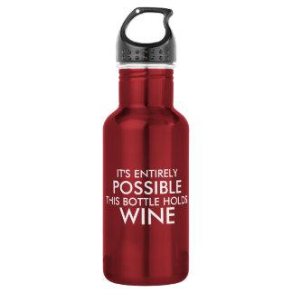 Es totalmente posible esta botella sostiene el