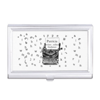 Es un bosquejo lindo de la máquina de escribir del cajas de tarjetas de visita
