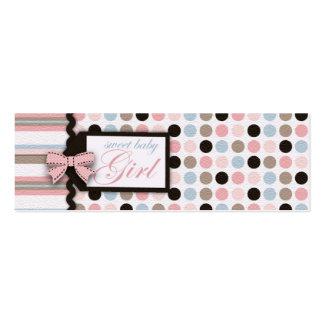 ¡Es un chica! Etiqueta flaca del regalo Tarjetas De Visita Mini