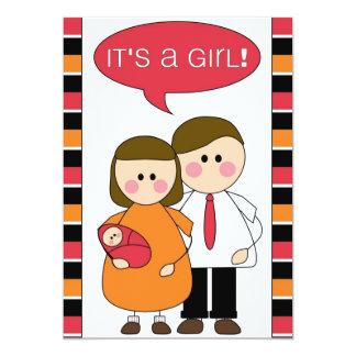 ¡es un chica! invitación