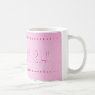Es un chica que el género revela la taza