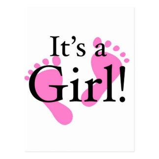 Es un chica - recién nacido, bebé, fiesta de postal