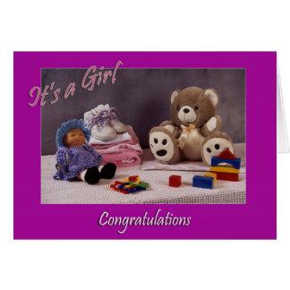 Es un chica tarjeta de felicitación