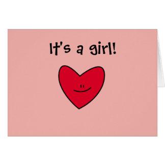 """""""Es un chica!"""" tarjetas (espacio en blanco dentro,"""
