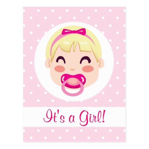 Es un diseño de la niña del chica tarjeta postal