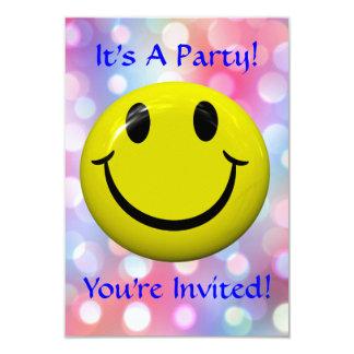 ¡Es un fiesta! Diversión, invitación colorida Invitación 8,9 X 12,7 Cm