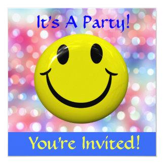 ¡Es un fiesta! Invitación feliz de la cara