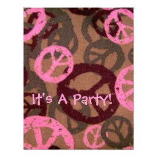 ¡Es un fiesta! - Los signos de la paz Diseño-Invit Invitacion Personalizada