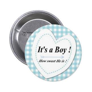 ¡Es un muchacho! Botón dulce