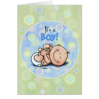 ¡Es un muchacho - enhorabuena del bebé! tarjeta