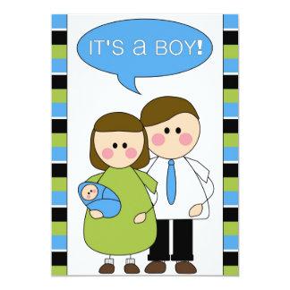 ¡es un muchacho! invitación