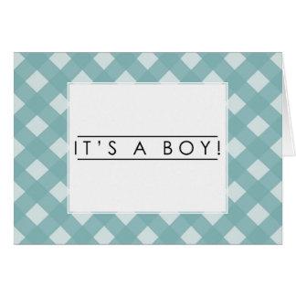 ¡Es un muchacho! - Invitación del nacimiento Tarjeta De Felicitación