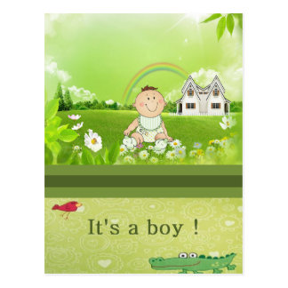 ¡Es un muchacho! Postal