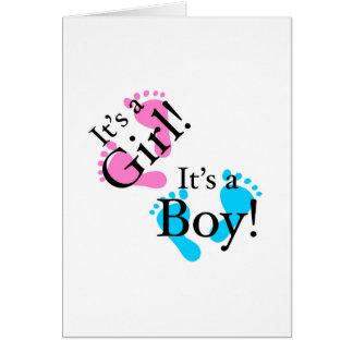 Es un muchacho que es un chica - bebé recién nacid tarjeta