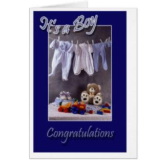 Es un muchacho tarjeta de felicitación