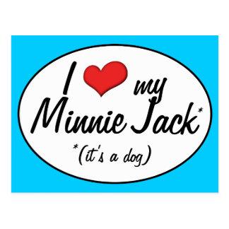 ¡Es un perro! Amo a mi Minnie Jack Postal