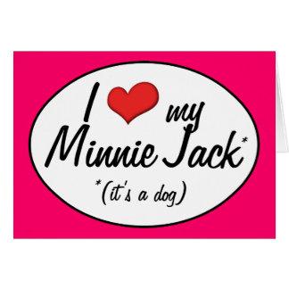 ¡Es un perro Amo a mi Minnie Jack Felicitacion