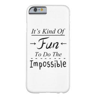 Es un poco diversión para hacer la cita imposible, funda de iPhone 6 barely there