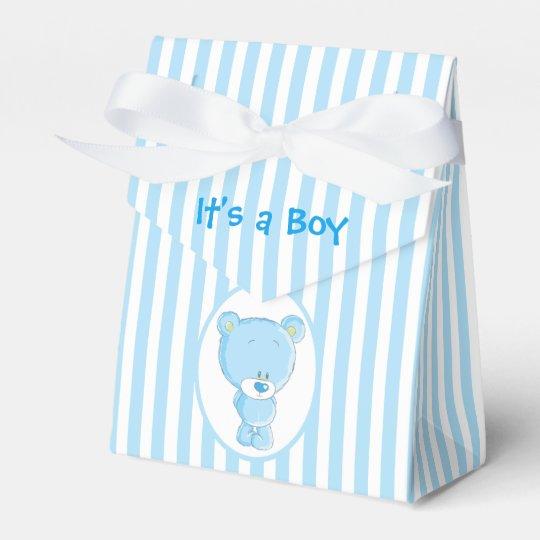 Es una caja del favor de la tienda del oso del