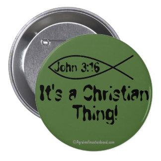 Es una cosa cristiana chapa redonda 7 cm