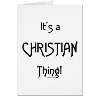 ¡Es una cosa cristiana! Felicitación