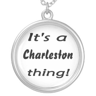 ¡Es una cosa de Charleston! Colgante Redondo