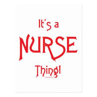 ¡Es una cosa de la enfermera! Tarjetas Postales