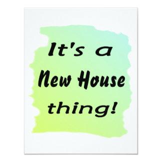 ¡Es una cosa de la nueva casa! Invitacion Personal