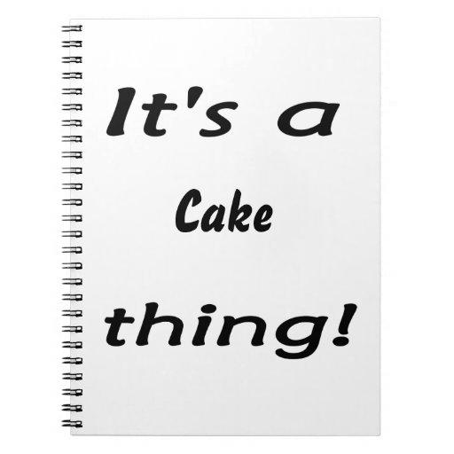 ¡Es una cosa de la torta! Libro De Apuntes Con Espiral