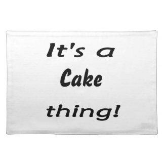 ¡Es una cosa de la torta! Manteles Individuales