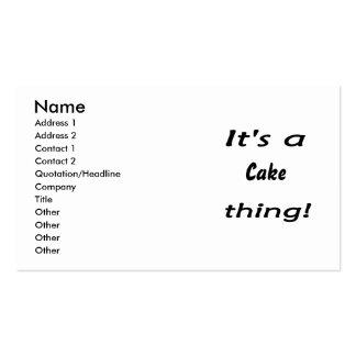 ¡Es una cosa de la torta! Tarjetas Personales