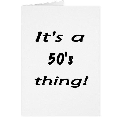 ¡Es una cosa de los años 50! Años 50 cincuenta Tarjetas