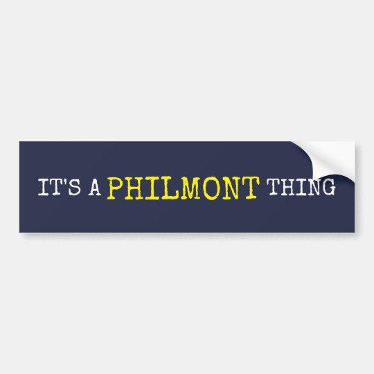 Es una cosa de Philmont Pegatina Para Coche