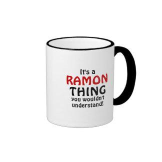 ¡Es una cosa de Ramón que usted no entendería! Taza De Dos Colores