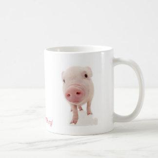 Es una cosa del cerdo taza de café