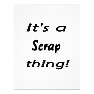 ¡Es una cosa del pedazo! Swag del diseño del Scrap Invitación