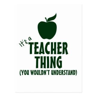 Es una cosa del profesor (usted no entendería) postal