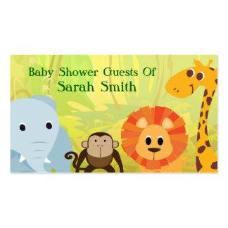 Es una fiesta de bienvenida al bebé de la selva tarjeta de visita