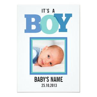 Es una invitación del bebé del muchacho