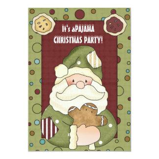 Es una invitación del fiesta de pijama del navidad