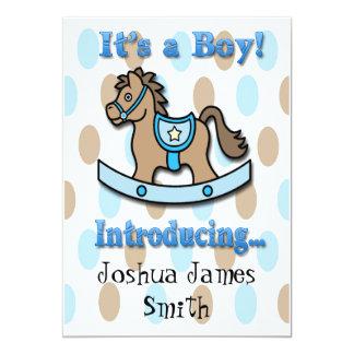 Es una invitación del nacimiento del caballo