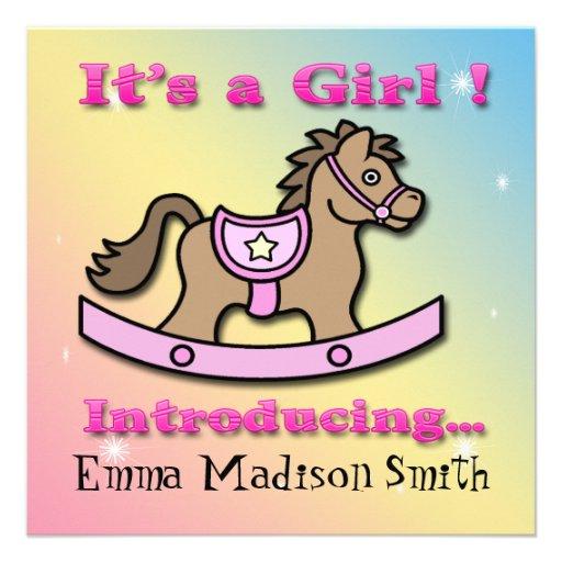 Es una invitación del nacimiento del caballo meced