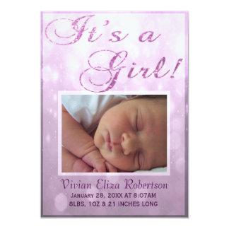 Es una invitación del nacimiento del chica el |