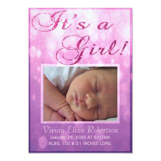 Es una invitación del nacimiento del chica el | el