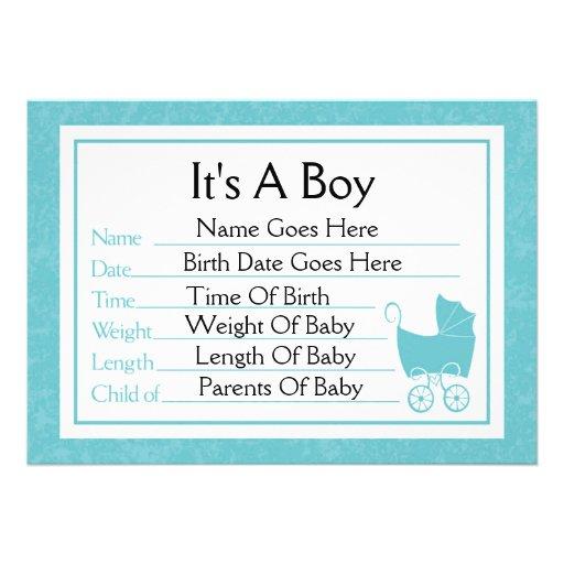 Es una invitación del nacimiento del muchacho