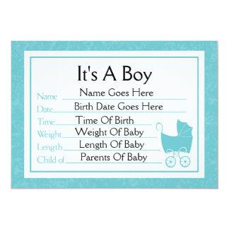 Es una invitación del nacimiento del muchacho invitación 12,7 x 17,8 cm