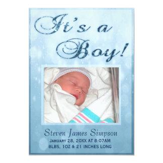 Es una invitación del nacimiento del muchacho el |