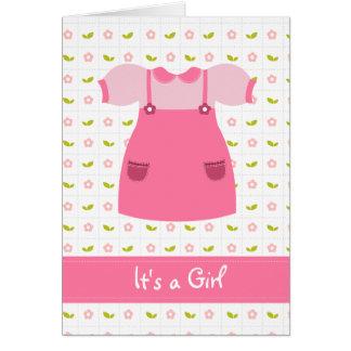 Es una tarjeta recién nacida del chica