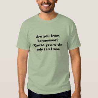 ¿Es usted de Tennessee? porque usted es el único… Camiseta