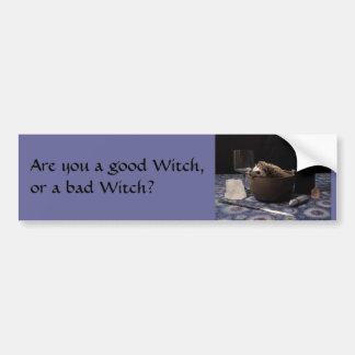 ¿Es usted una buena bruja, o una mala bruja? Pegatina Para Coche